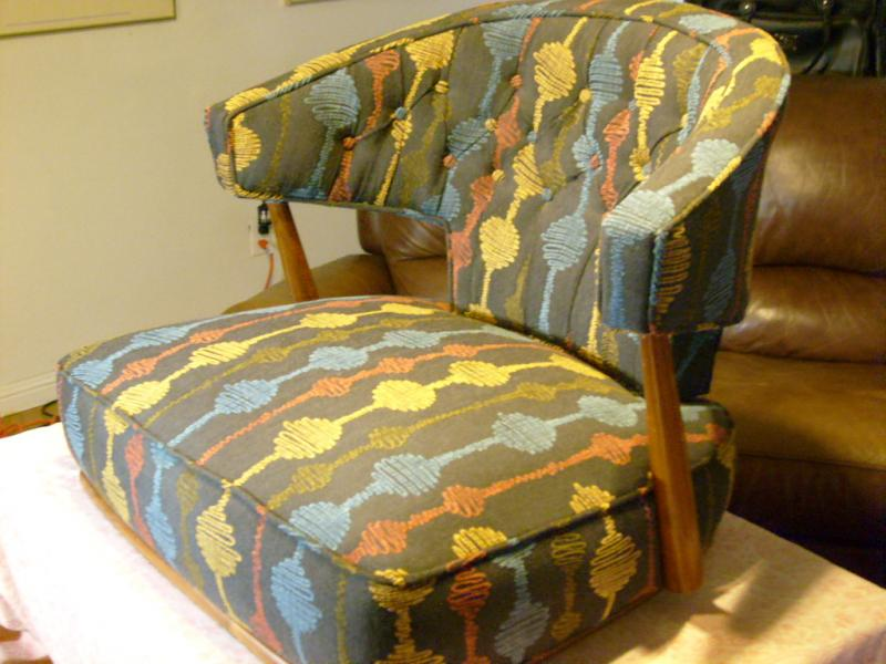 50's chair redesigned with diamond tucking